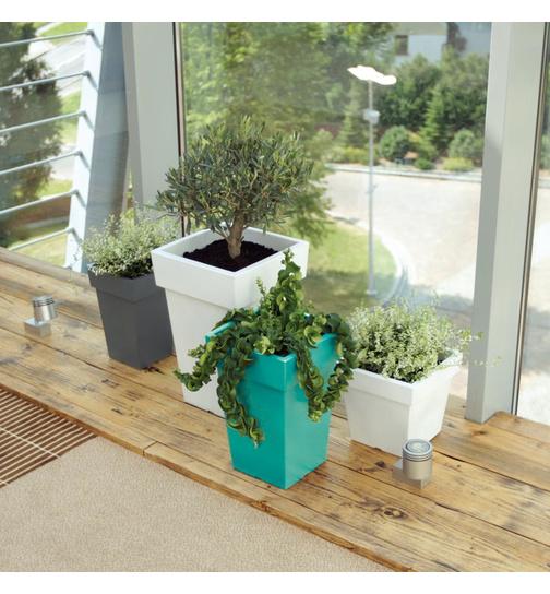 blumentopf viereckig lofly low 28 9 cm farbe wei g nstig online kauf 7 99. Black Bedroom Furniture Sets. Home Design Ideas