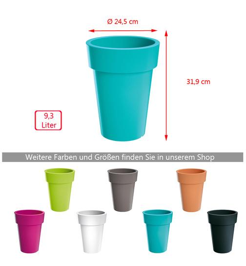 Blumentopf Lofly Slim 24,5 cm grau günstig online kaufen, 6,99 €