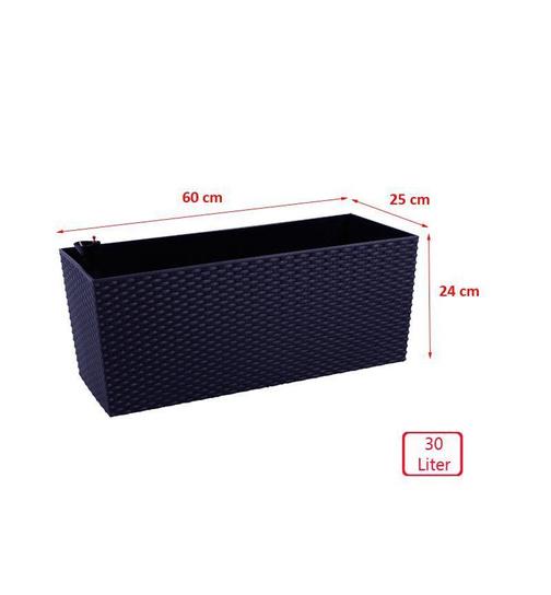 blumenkasten mit wasserspeicher 60cm mocca balkonkasten. Black Bedroom Furniture Sets. Home Design Ideas