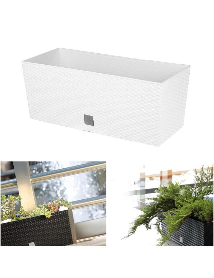 Blumenkasten mit Wasserspeicher 60cm weiß Balkonkasten Pflanztopf ...
