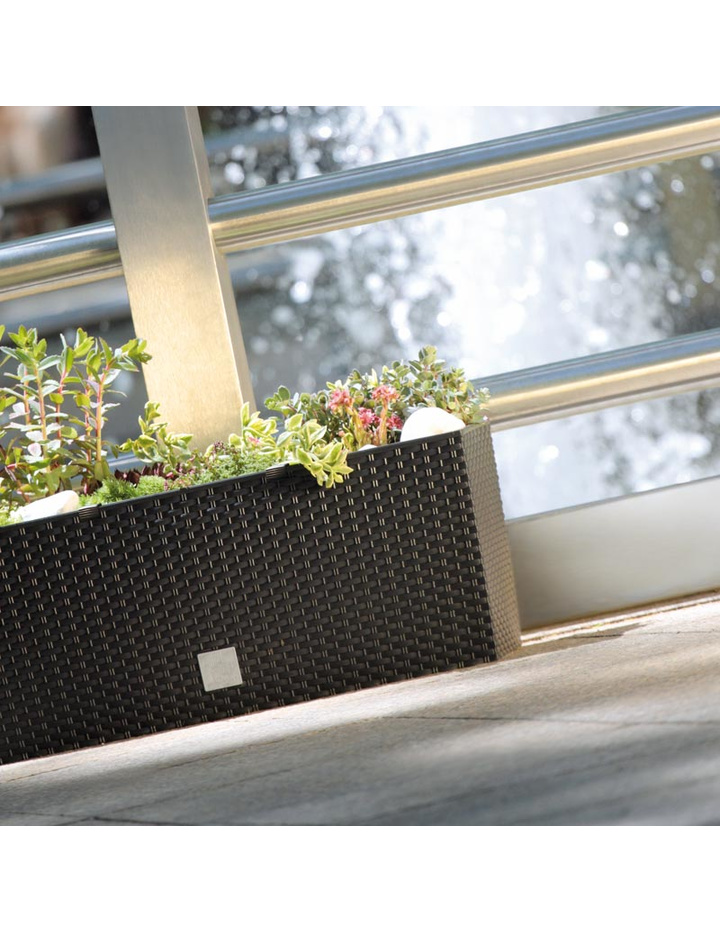 blumenkasten mit wasserspeicher rato case hoch 80 cm mocca. Black Bedroom Furniture Sets. Home Design Ideas
