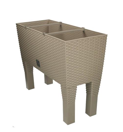 blumenkasten mit wasserspeicher rato case hoch 80 cm mocca g nstig on 48 49. Black Bedroom Furniture Sets. Home Design Ideas