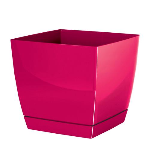 blumentopf viereckig coubi mit untersetzer 24 cm 8 2 liter gl nzend h 7 89. Black Bedroom Furniture Sets. Home Design Ideas