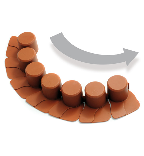 2,05 m. Palisade Farbe terracotta Beeteinfassung Rasenbord
