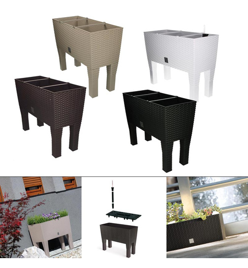 blumenkasten mit bew sserungssystem wasserspeicher rato case hoch g n 22 49. Black Bedroom Furniture Sets. Home Design Ideas