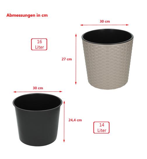 blumentopf mit einsatz rattanoptik blumenk bel pflanztopf bertopf pf 12 99. Black Bedroom Furniture Sets. Home Design Ideas