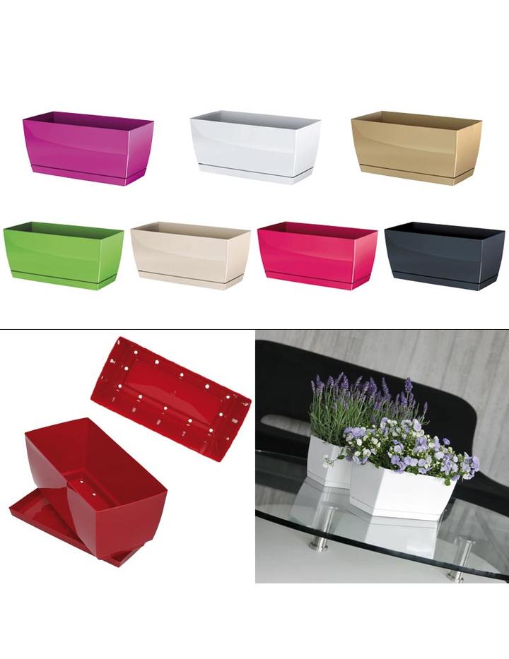 blumenkasten coubi mit untersetzer gl nzend g nstig online kaufen 3 95. Black Bedroom Furniture Sets. Home Design Ideas