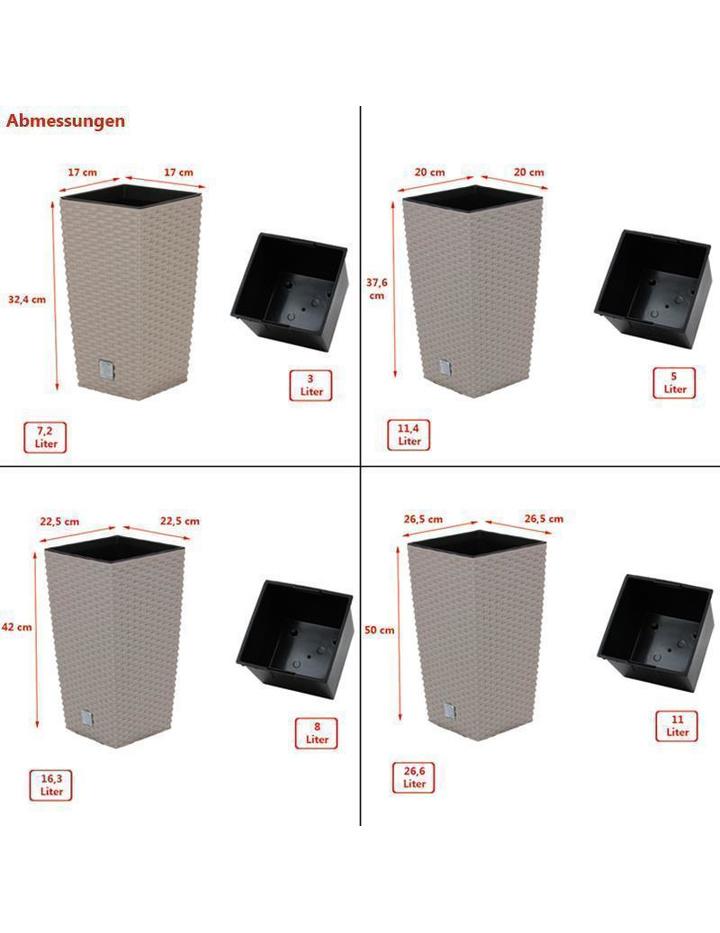 blumentopf mit einsatz rattan optik pflanztopf bertopf pflanzk bel b 7 79. Black Bedroom Furniture Sets. Home Design Ideas